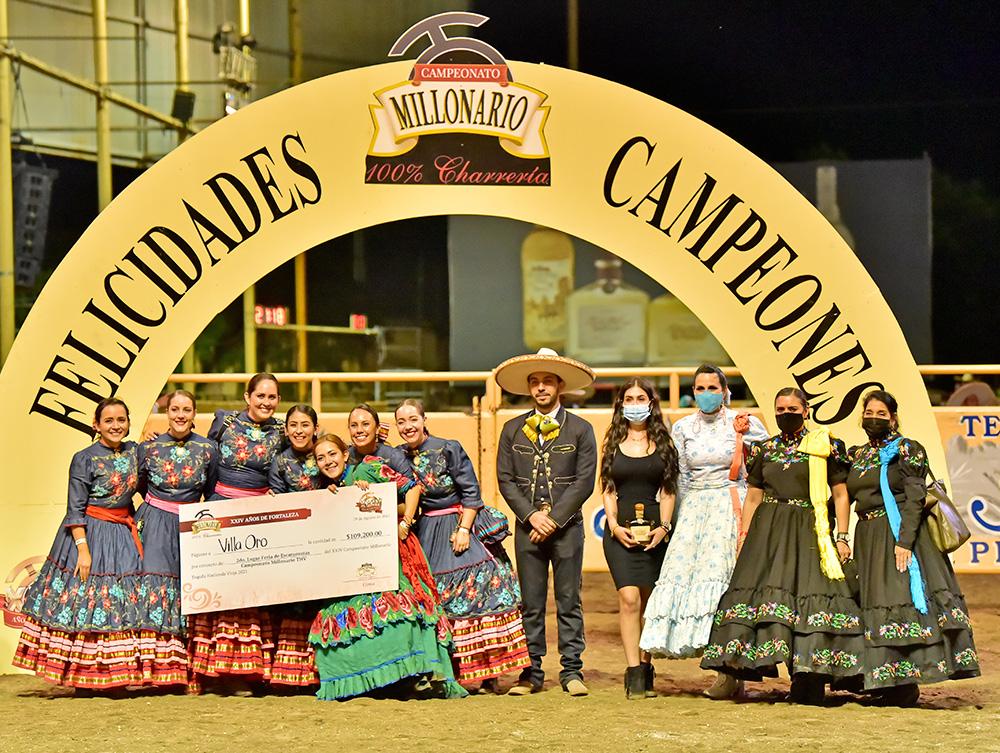 Premiación Villa Oro, escaramuza subcampeona millonaria